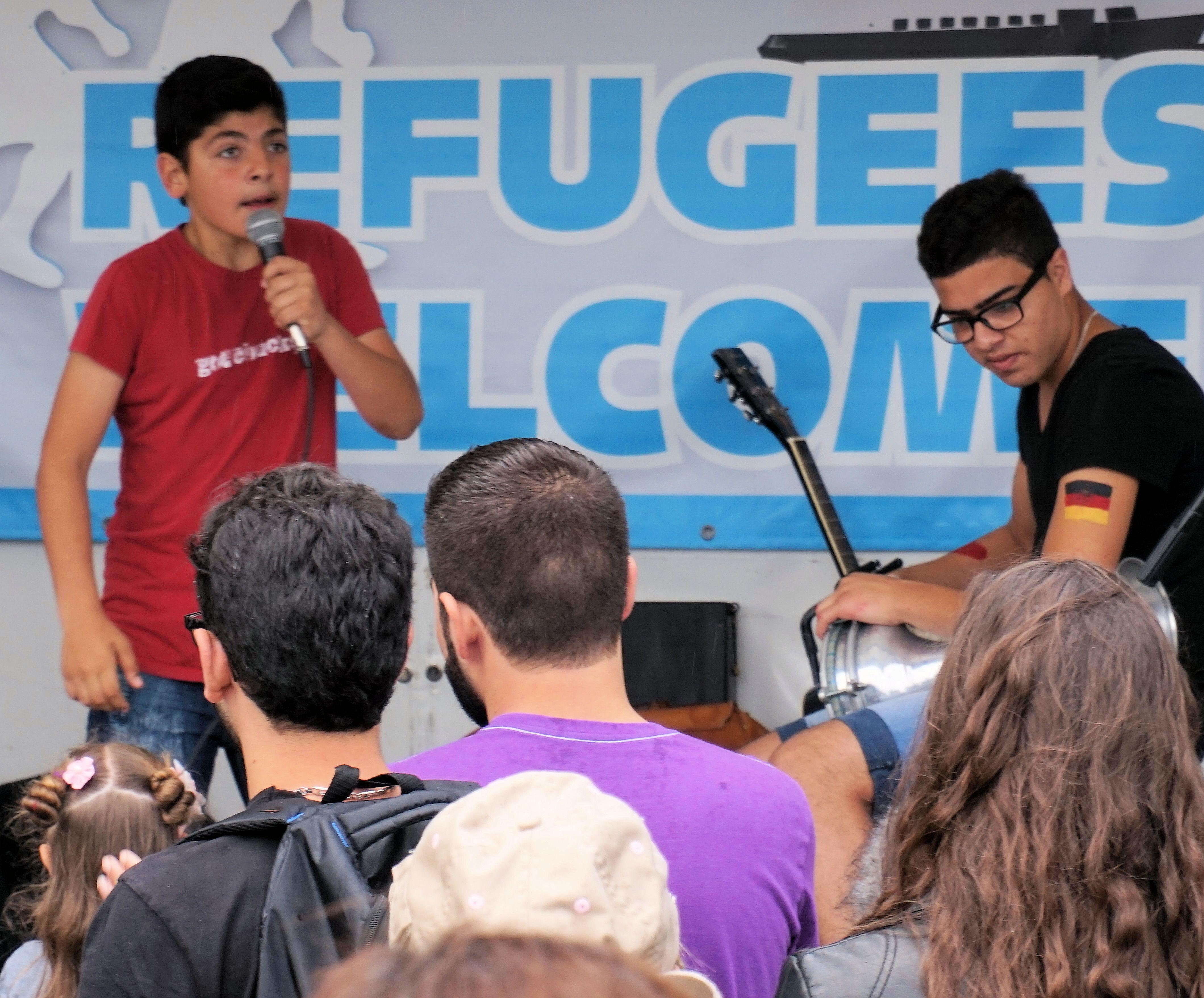 Willkommesfest für Kieler Flüchtlinge ausgelassen und bunt