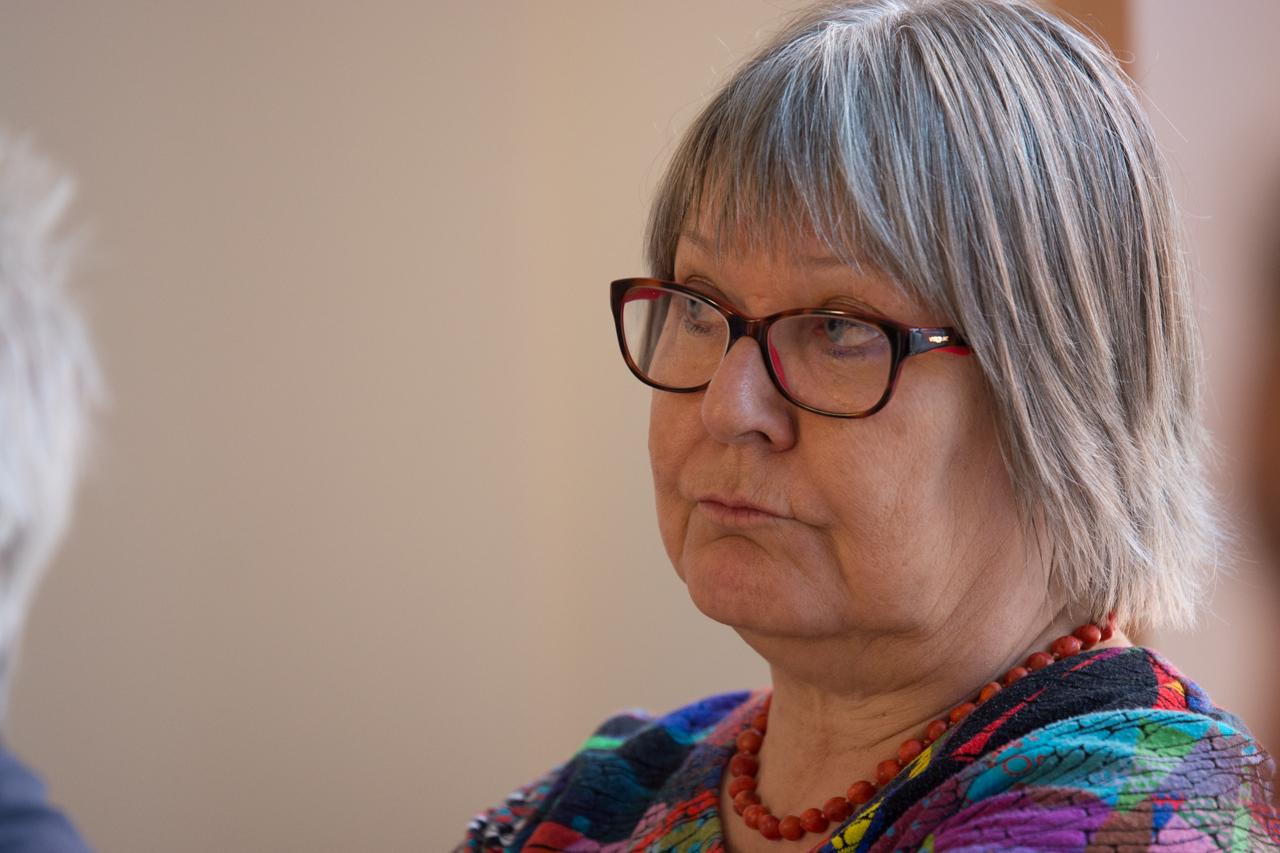 Helena Peltonen-Gassmann von Transparency International.
