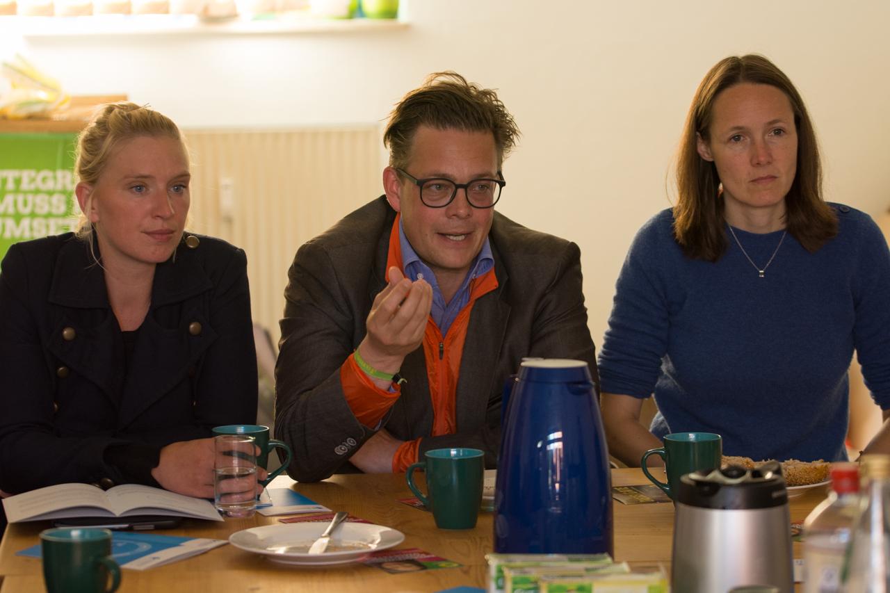 Luise Amtsberg, Konstantin von Notz und Ingrid Nestlé - die drei Spitzenkandidaten der Grünen für Schleswig-Holstein.