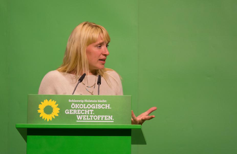 Luise Amtsberg auf dem Landesparteitag am 23.5.2017 in Neumünster.